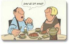 Inkognito Verlag Frühstücksbrettchen Das Ei ist hart Loriot