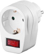 Monacor-International MEP-1S Adapterstecker Schutzkontakt - Schalter 1x Buchse weiß