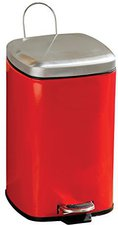 Premier Housewares Quadratischer Treteimer 20L rot