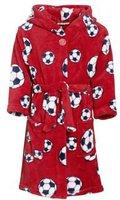 Playshoes Fleece-Bademantel Fußball