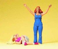 Preiser Junge Frauen Hippie (45134)