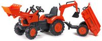 Falquet & Cie Traktor Farmer mit Schaufel, Heckbagger und Anhänger