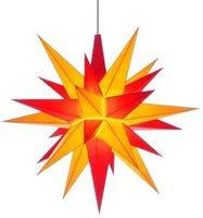 Herrnhuter Sterne Außenbereich gelb rot