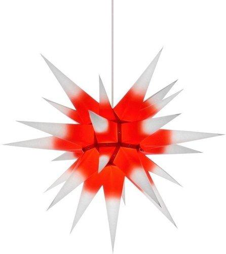 Herrnhuter Sterne Stern rot weiß Innenbereich (60 cm)