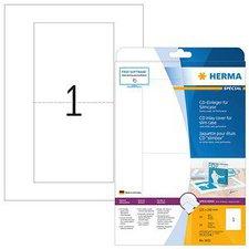 Herma CD-Einleger, 121x242 mm, weiß (5033)