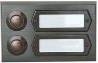 Kopp Klingelplatte Rechteck 2-reihig, bronze (206825029)