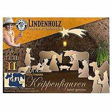 Corvus Schnitzholz Krippe T2 Ochs und Esel (A600512)