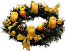 Best Season Adventskranz 4 LED Kerzen gold