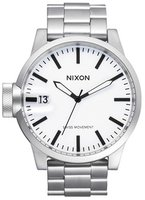 Nixon The Chronicle SS Sanded Steel/White