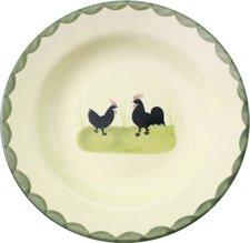 Zeller Keramik Hahn und Henne Suppenteller 21 cm