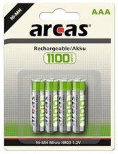 arcas Rechargeable NI-MH LR3 Akku 1,2 V 1100 mAh (4-20 St.)