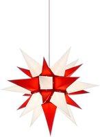 Herrnhuter Sterne Stern Innenbereich rot weiß (40 cm)