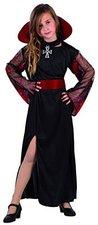 Atosa Verkleidung Vampir Mädchen mit rotem Kragen