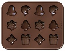 Tescoma Delicia Schokoladenförmchen mit Weihnachtsmotiven
