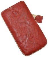 SunCase Ledertasche Wash Rot (Samsung Galaxy S3 Mini)