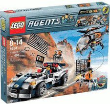 LEGO 8634 Agents Mission 5 Silberner Cruiser