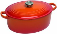 Le Creuset Tradition Bräter 25 cm oval ofenrot