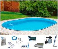 my pool Ovalpool Premium 800x400x120cm (10tlg. Set)