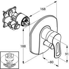 Kludi MX Wannenfüll- und Brause-Einhandmischer (336500562)
