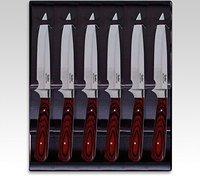 Linder Brotzeitmesser mit Pakkaholzgriff 6er Set