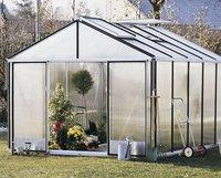 Gartenpro Profigewächshaus Typ 22 DT (HKP 10mm, Alu blank)