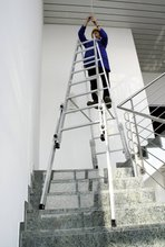 Steigtechnik Aluminium-Stehleiter treppengängig 2x6 Sprossen