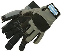 Silverline Tools Fingerfreie Mechanikerhandschuhe Gr. L (282597)