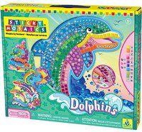 The Orb Factory Sticky Mosaics Dolphins (64327)