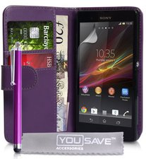 Yousave Accessories Ledertasche (Sony Xperia Z)