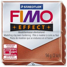 Fimo effect 56 g metallic-kupfer