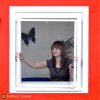Hecht international Fensterbausatz mit echtholzfurnierten Aluminiumprofilen