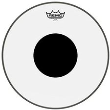 Remo Clear Controlled Sound Black Dot 14 ""