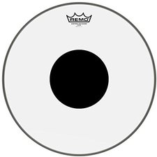 Remo Clear Controlled Sound Black Dot 15 ""
