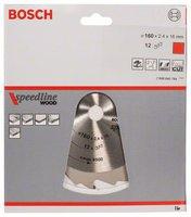 Bosch Kreissägeblatt 160 x 16 x 2,4 mm 12Z Speedline Wood (2608640784)