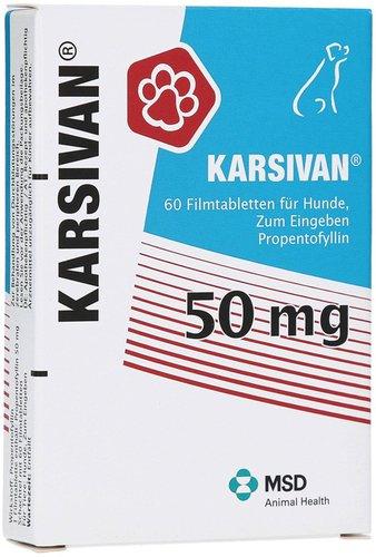 Intervet Karsivan 50 vet. Filmtabletten (60 Stk.)