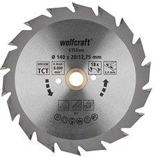 Wolfcraft HM-Kreissägeblatt 140 x 12,75 x 2,4 mm 18Z Serie grün (6358000)