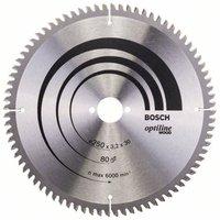 Bosch Optiline Wood Kreissägeblatt 250 x 30 x 3,2 mm 80 WZ/N (2 608 640 645)