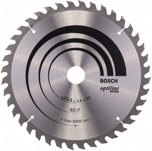 Bosch Optiline Wood Kreissägeblatt 254 x 30 x 2,8 mm WZ 40 (2608640443)