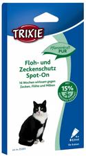 Trixie Spot-On natürliches Zeckenmittel für Katzen (4 x 0,75 ml)