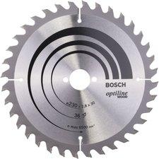Bosch Optiline Wood Kreissägeblatt 230 x 30 x 2,8 mm 36 WZ (2 608 640 628)