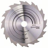 Bosch Kreissägeblatt 160 x 20 x 2,4 mm 12Z Speedline Wood (2608640786)