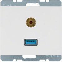 Berker USB-/Audio-Steckdose, polarweiß 3315397009