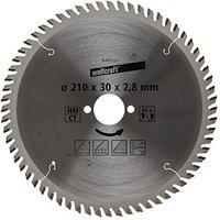 Wolfcraft HM-Handkreissägeblatt 210 x 30 x 2,8 mm 64 Zähne Serie orange (6431000)