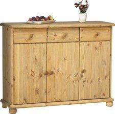 Steens Furniture Ltd 20222530 Sideboard Max Kiefer massiv gelaugt geölt (93 x 120 x 40 cm)