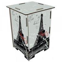 Werkhaus Photohocker Eiffelturm Paris grau (SH 8172)