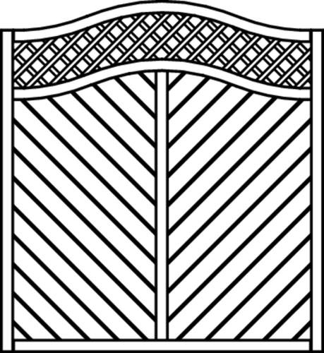 Osmo Skagen Sichtblende 178 x 194/178 cm Kiefer mit Rankgitter