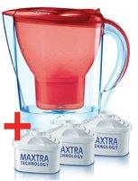 Brita Marella Cool Wasserfilter rot + 3 Kartuschen