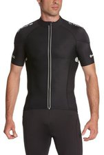 Skins C400 Herren Short Sleeve Compression Jersey schwarz/grau