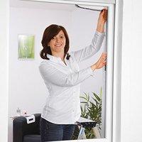 Hecht international Fliegengitter für Fenster weiß (130 x 150 cm)