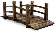 Dilego Holzbrücke mit Geländer dunkelbraun